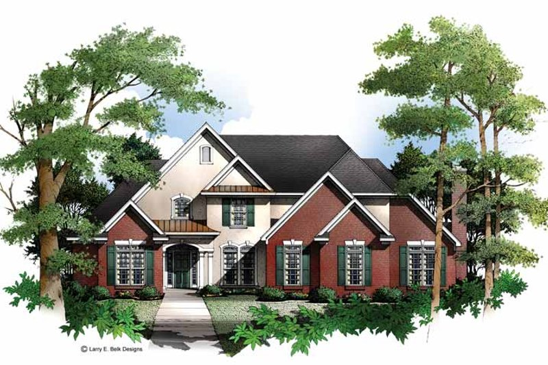 Mediterranean Exterior - Front Elevation Plan #952-143