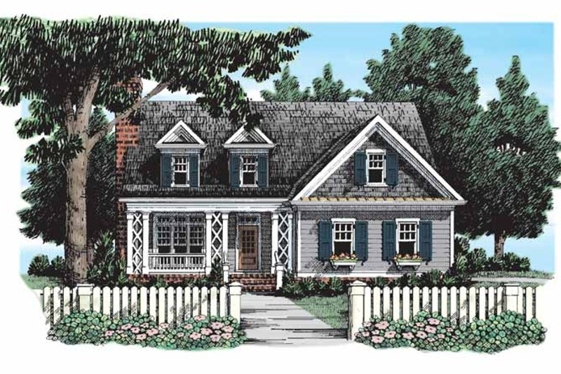 Country Exterior - Front Elevation Plan #927-294