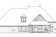 European Exterior - Rear Elevation Plan #310-1264
