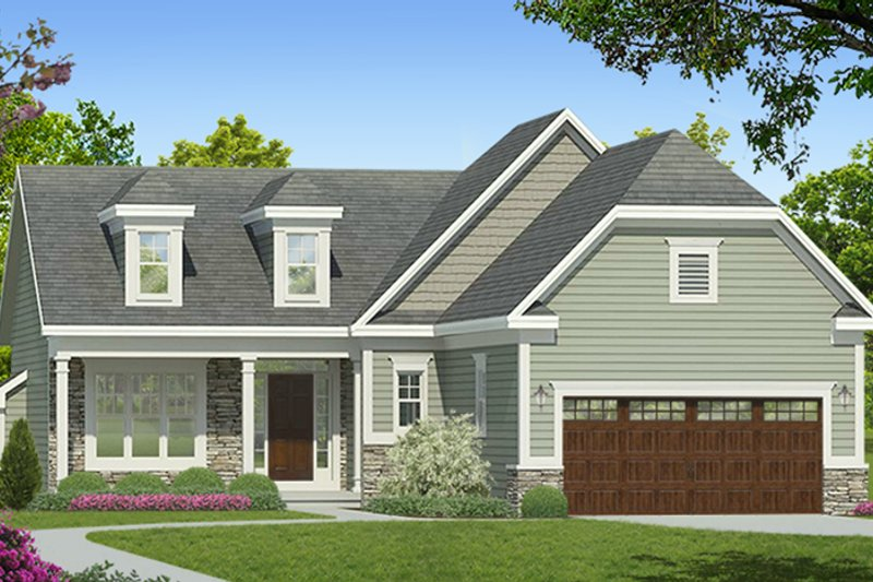 Ranch Exterior - Front Elevation Plan #1010-180 - Houseplans.com