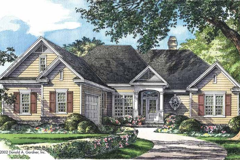 Ranch Exterior - Front Elevation Plan #929-666