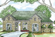 Architectural House Design - Ranch Exterior - Front Elevation Plan #36-591