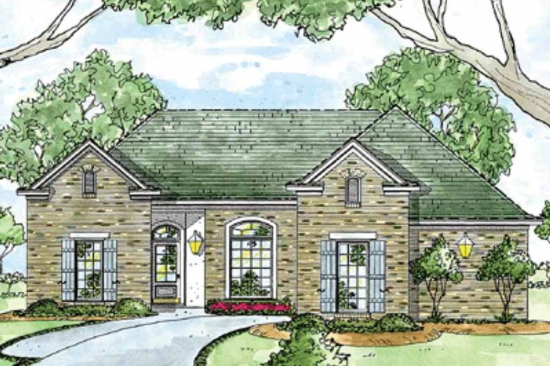 Ranch Exterior - Front Elevation Plan #36-591 - Houseplans.com