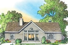 Home Plan - Country Exterior - Rear Elevation Plan #1016-101