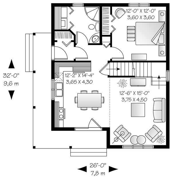 Cottage Floor Plan - Main Floor Plan Plan #23-824