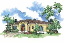 Home Plan - Mediterranean Exterior - Front Elevation Plan #930-391
