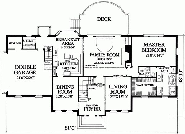Southern Floor Plan - Main Floor Plan Plan #137-192