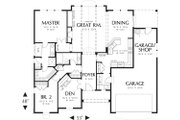Craftsman Style House Plan - 2 Beds 2 Baths 1728 Sq/Ft Plan #48-103 Floor Plan - Main Floor Plan