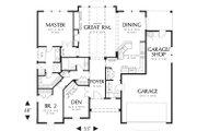 Craftsman Style House Plan - 2 Beds 2 Baths 1728 Sq/Ft Plan #48-103 Floor Plan - Main Floor