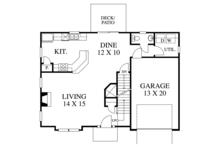 Traditional Floor Plan - Main Floor Plan Plan #1053-76