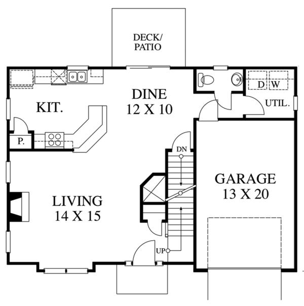 Traditional Floor Plan - Main Floor Plan Plan #1053-76