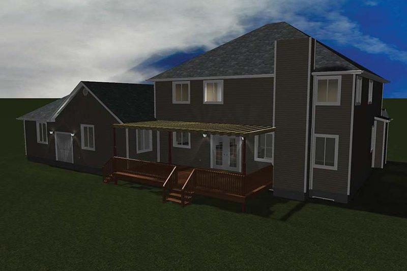 Traditional Exterior - Rear Elevation Plan #1060-8 - Houseplans.com