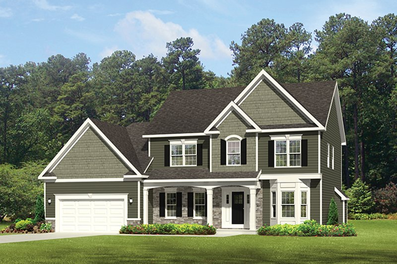 Architectural House Design - Traditional Exterior - Front Elevation Plan #1010-125