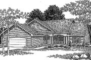 Traditional Style House Plan - 3 Beds 2.5 Baths 1733 Sq/Ft Plan #70-182 Exterior - Front Elevation