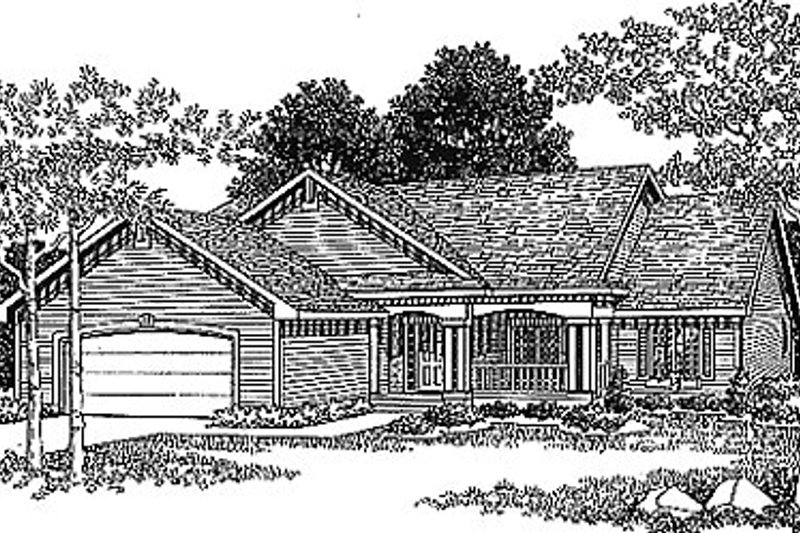 Home Plan - Traditional Exterior - Front Elevation Plan #70-182