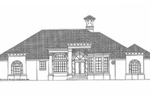 Architectural House Design - Mediterranean Exterior - Front Elevation Plan #930-315