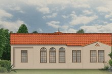 Home Plan - Mediterranean Exterior - Rear Elevation Plan #1058-6