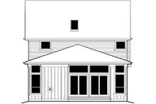 Home Plan - Traditional Exterior - Rear Elevation Plan #48-487