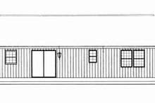 Architectural House Design - Ranch Exterior - Rear Elevation Plan #72-336