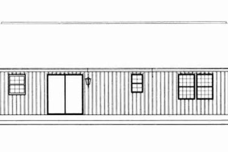 Ranch Exterior - Rear Elevation Plan #72-336 - Houseplans.com