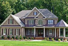 Colonial Exterior - Front Elevation Plan #927-393