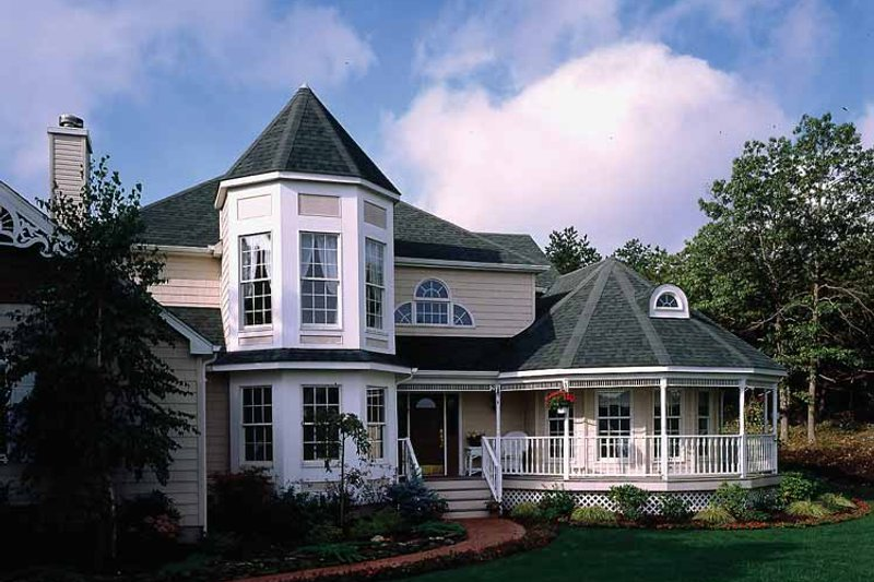 Victorian Exterior - Front Elevation Plan #314-188 - Houseplans.com