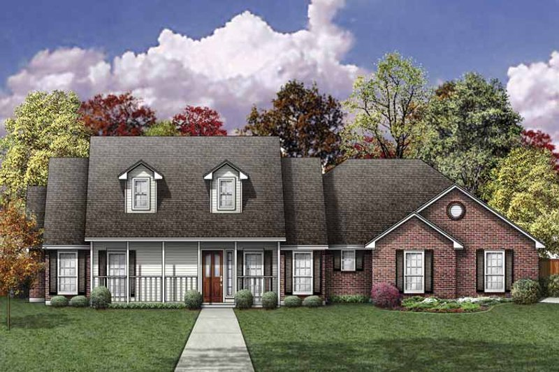 House Plan Design - Traditional Exterior - Front Elevation Plan #84-762