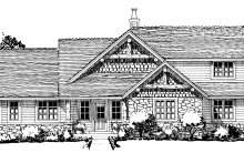 Craftsman Exterior - Front Elevation Plan #942-17