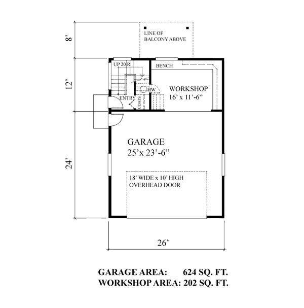Bungalow Floor Plan - Main Floor Plan Plan #118-132