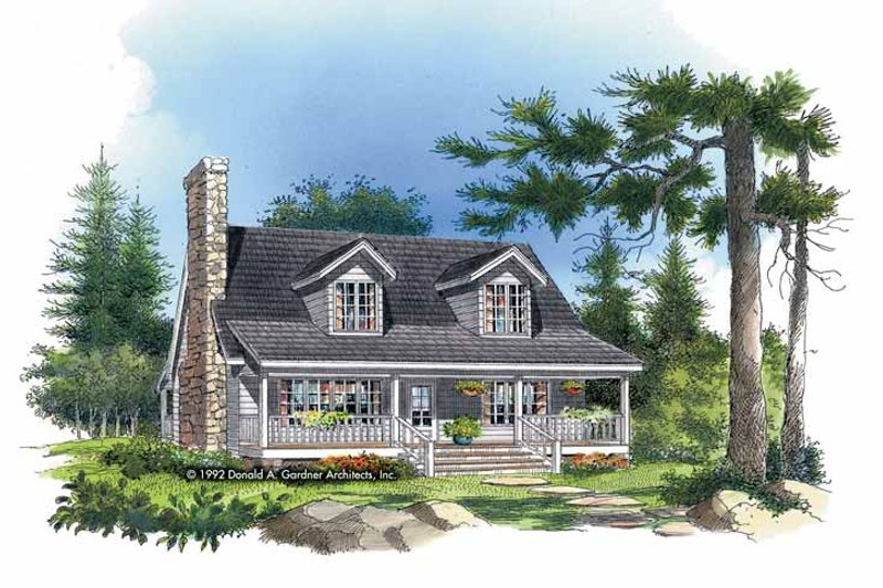 Country Exterior - Front Elevation Plan #929-143