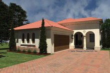 House Plan Design - Mediterranean Exterior - Front Elevation Plan #930-426
