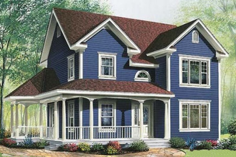 Cottage Exterior - Front Elevation Plan #23-521