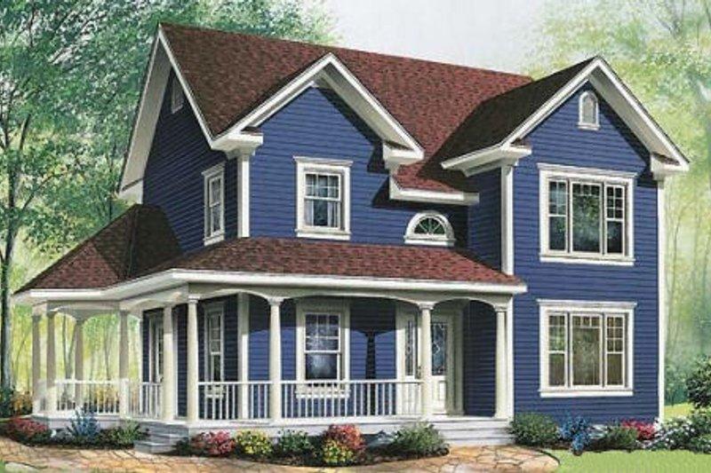 House Plan Design - Cottage Exterior - Front Elevation Plan #23-521