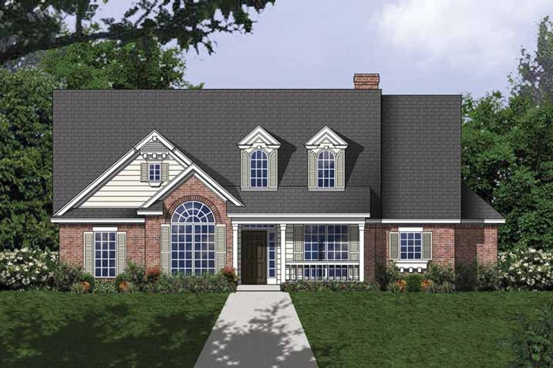 Traditional Exterior - Front Elevation Plan #40-504 - Houseplans.com