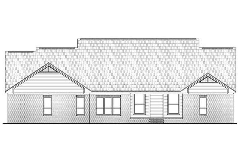 Country Exterior - Rear Elevation Plan #21-299 - Houseplans.com
