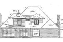 House Plan Design - European Exterior - Rear Elevation Plan #310-880