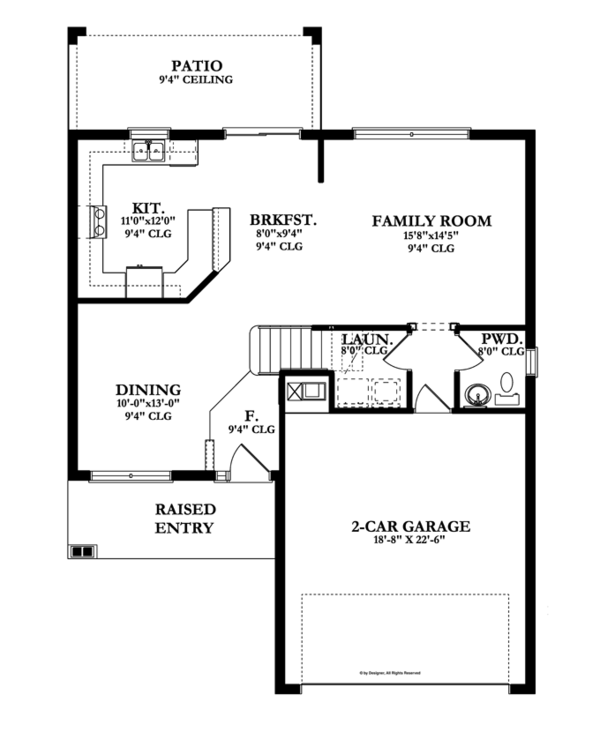 Traditional Floor Plan - Main Floor Plan Plan #1058-21