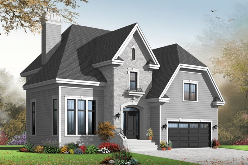 European Exterior - Front Elevation Plan #23-2579