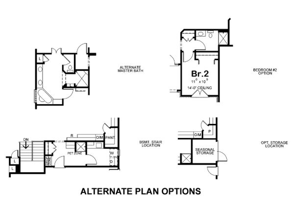 Home Plan Design - Alternate plan options
