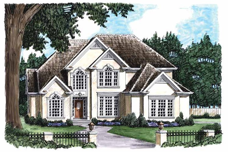 Mediterranean Exterior - Front Elevation Plan #927-59