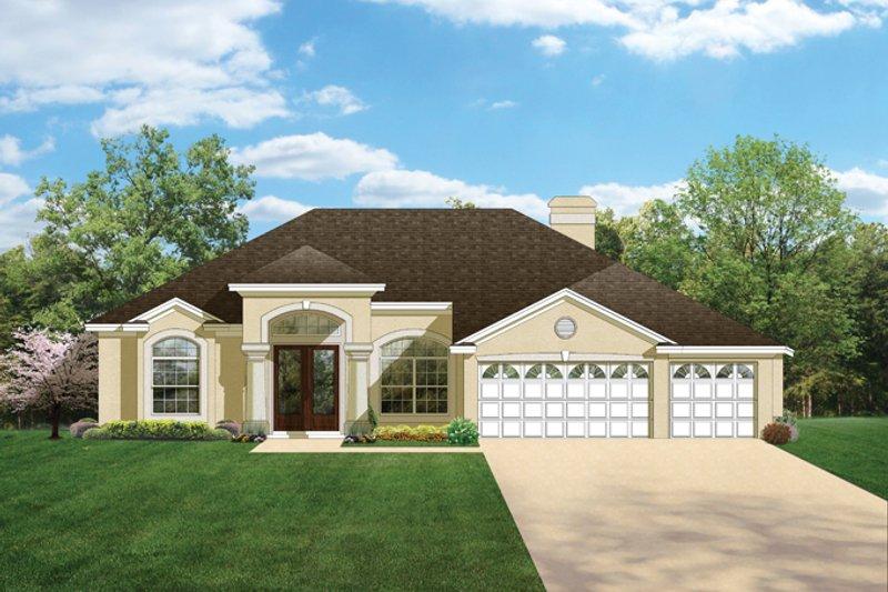 House Plan Design - Mediterranean Exterior - Front Elevation Plan #1058-46