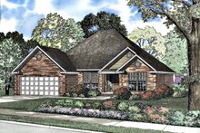 Ranch Exterior - Front Elevation Plan #17-3179