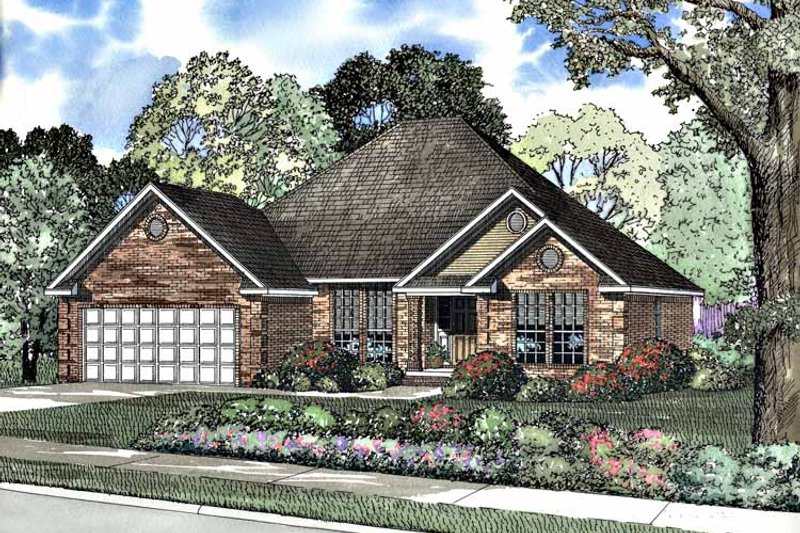 Ranch Exterior - Front Elevation Plan #17-3179 - Houseplans.com