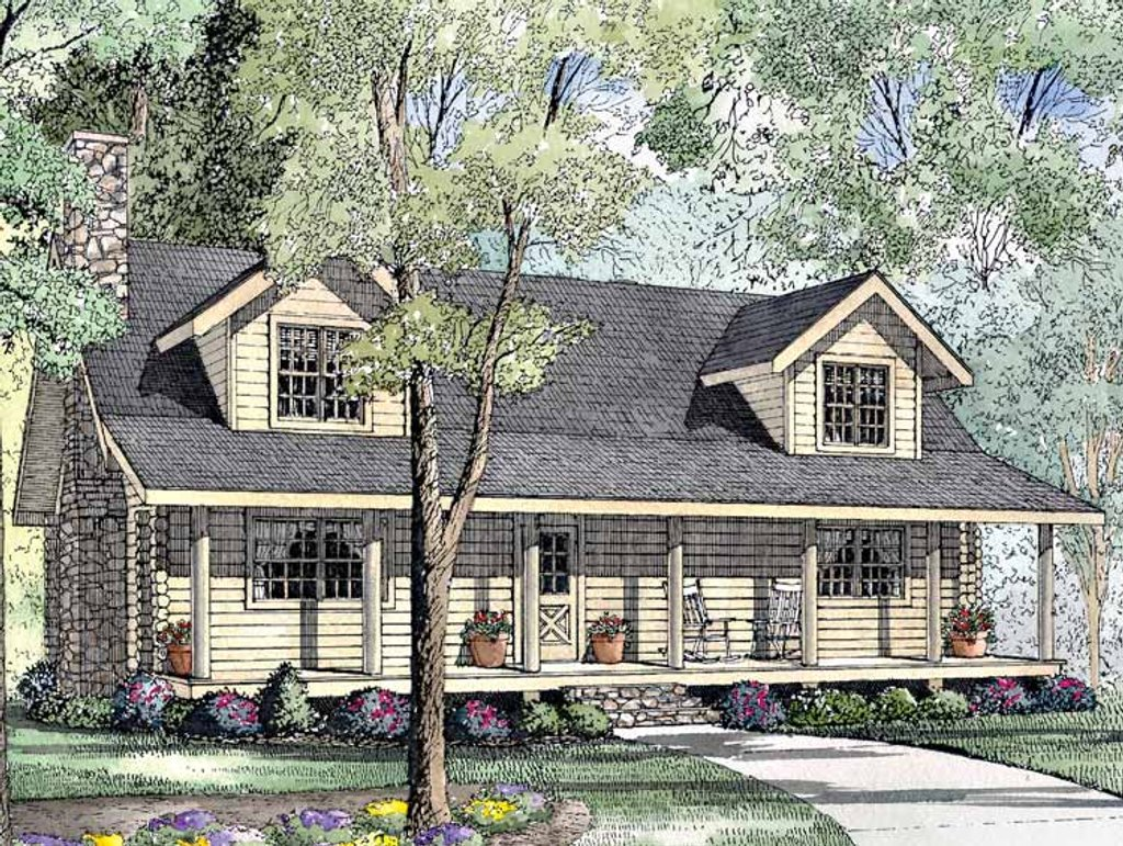 Log style house plan 3 beds 2 5 baths 1810 sq ft plan for Www homeplans com