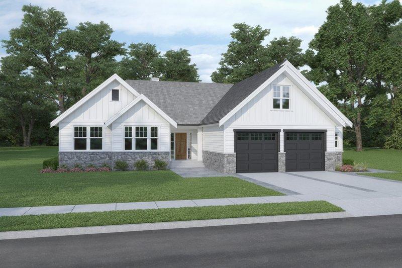 Dream House Plan - Craftsman Exterior - Front Elevation Plan #1070-109