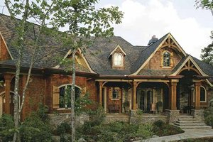 Ranch Exterior - Front Elevation Plan #54-313