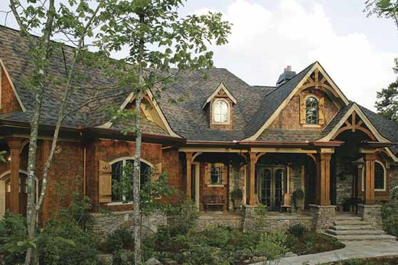 Ranch Exterior - Front Elevation Plan #54-313 - Houseplans.com