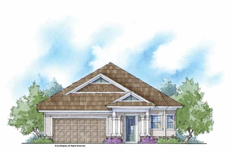 Country Exterior - Front Elevation Plan #938-10 - Houseplans.com