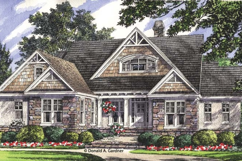 Craftsman Exterior - Front Elevation Plan #929-953 - Houseplans.com