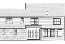 Colonial Exterior - Rear Elevation Plan #46-860